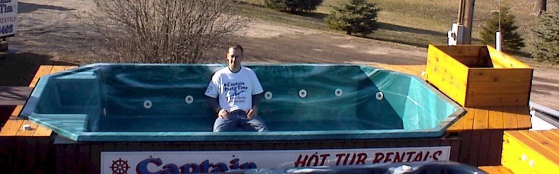 Captain Party Time Co-Owner Tony Jones renting hot tubs!